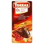 Chocolate black Torras with cinnamon sugar free 75g Spain