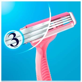 Станки Gillette Simply Venus 3 лезвия одноразовые для женщин 12шт - купить, цены на Ашан - фото 4