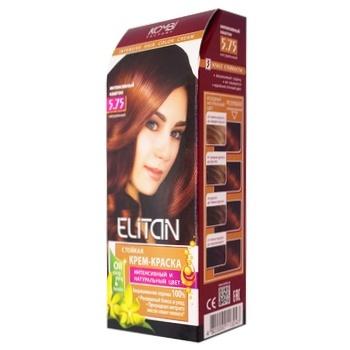 Краска для волос Элитан интенсив №5.75 Интенсивный каштан
