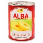 Ананас Alba Food кольцами в сиропе 580мл