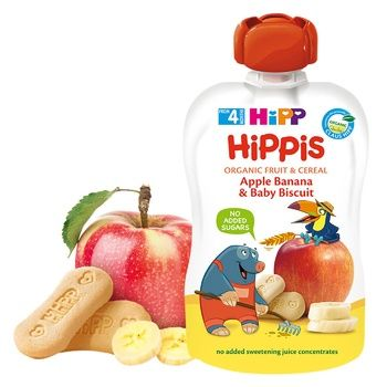 HiPP Hippis For Children From 4 Months Apple-Banana Puree with baby cookies 100g - buy, prices for CityMarket - photo 2