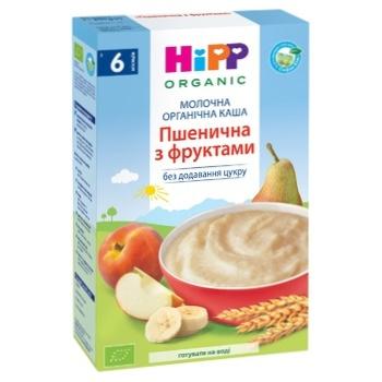 Каша молочна Hipp пшенична з фруктами 250г