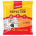 Салфетки Chisto вискозные 5+2шт