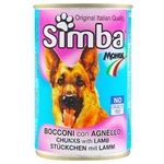Food Simba with lamb for dogs 415g can Italy