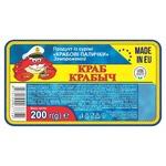 Крабові палички Краб Крабич із сурімі заморожені 200г