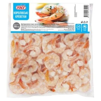 Vici Royal Peeled Shrimps with Tail 41/50 Boiled and Frozen 300g - buy, prices for CityMarket - photo 1