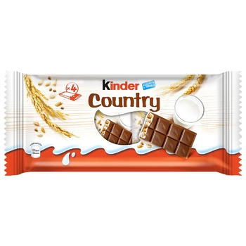 KIinder® Chocolate With Cereals With Milky And Cereal Filling 4pcs 94g - buy, prices for CityMarket - photo 1