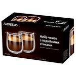 Набір чашок Ardesto з подвійними стінками 300мл 2шт