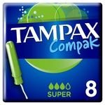 Тампони Tampax Compak Super з аплікатором 8шт