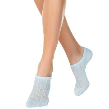Conte Elegant Active Pale Turquoise Women's Ultrashort Socks Size 25 - buy, prices for Cosmos - photo 1