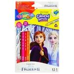 Colorino Frozen Colored Pencils with Erasing 12 colors 12pcs