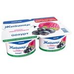 Йогурт Живинка малина-черная смородина 1,5% 4шт*115г