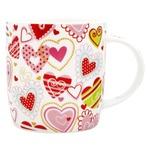 Чашка порцелянова, 370 мл, серця 480200000 И977 (КІН)