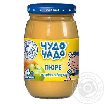Chudo-Chado pumpkin-apple puree for children from 4 months 170g - buy, prices for Novus - image 1