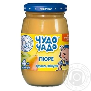 Пюре з груш та яблук без цукру Чудо-Чадо від 4-х місяців 170г - купити, ціни на МегаМаркет - фото 1