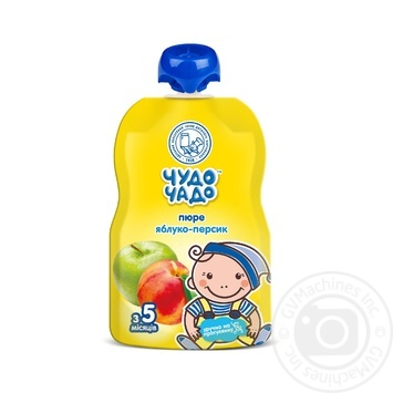 Chudo-Chado apple-peach puree for children from 5 months 90g - buy, prices for Furshet - image 1