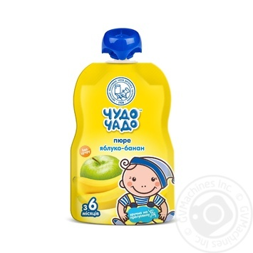 Chudo-Chado apple-banana puree without sugar for children from 6 months 90g - buy, prices for MegaMarket - image 1
