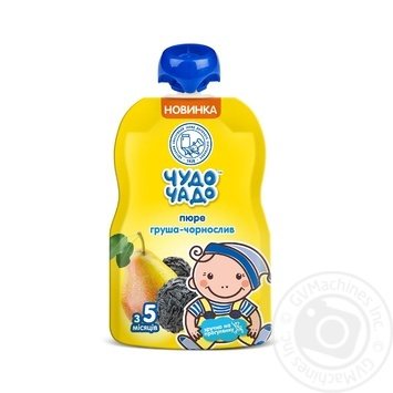 Chudo-Chado pear and prunes puree for children from 5 months 90g - buy, prices for Furshet - image 1