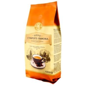 Кава зерно Кава Старого Львова На сніданок 1кг - купити, ціни на Ашан - фото 1