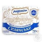 Масло Радомилк Селянськое сладкосливочное 73% 200г Украина