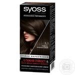 Краска для волос SYOSS №3-1 темно-каштановый