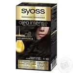 Краска для волос Syoss Oleo Intense без1-10 глубокий черный аммиака 115мл