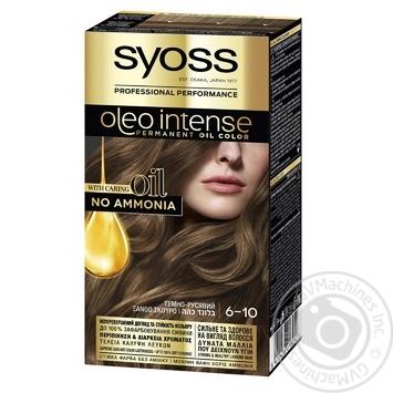 Краска для волос без аммиака SYOSS Oleo Intense 6-10 Темно-Русый 115мл