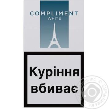 Сигареты Compliment super slim white