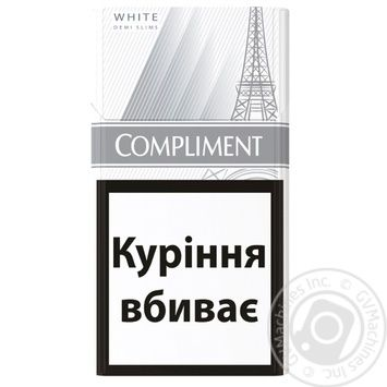 Сигареты Compliment demi white slim