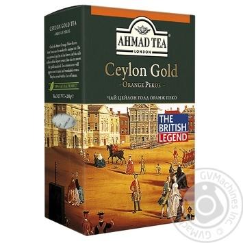 Чай чорний Ахмад Цейлон Оранж Пеко Голд 200г
