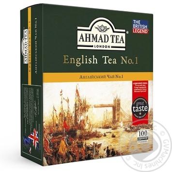 Чай черный Ахмад Английский №1 пакетированный 100х2г - купить, цены на Novus - фото 1