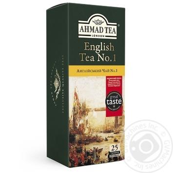 Чай черный Ахмад Английский №1 пакетированный 25х2г - купить, цены на Фуршет - фото 1