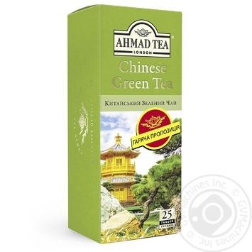 Чай Китайский зеленый Ахмад пакетированный 25х1,8г - купить, цены на Восторг - фото 1