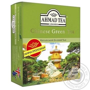 Чай Китайский зеленый Ахмад пакетированный 100х1,8г