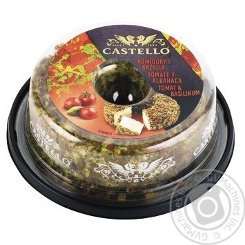 Castello with tomatoes and basil cream-cheese 125g - buy, prices for CityMarket - photo 1