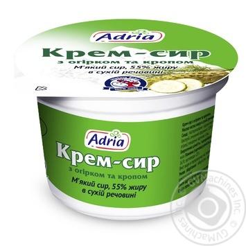 Крем-сир Адріа з огірком та кропом 55% 100г - купити, ціни на CітіМаркет - фото 1