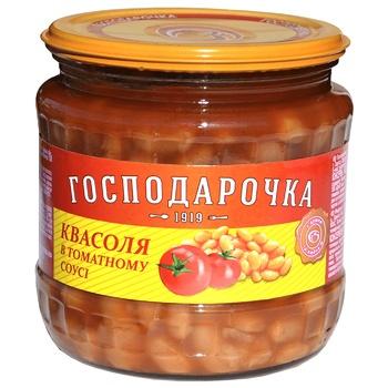 Фасоль Господарочка в томатном соусе 450г - купить, цены на Таврия В - фото 1