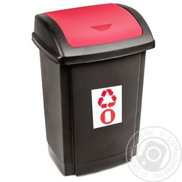 Відро для сміття Plast team червоне 25л