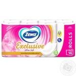 Туалетная бумага Zewa четырехслойная 16 рулонов