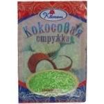 Shavings Kviten coconut with coconut flavor for desserts 100g Ukraine