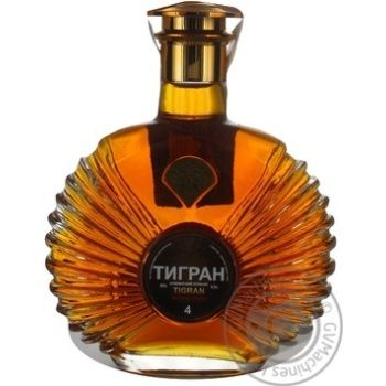 Tigran Armenian 4 yrs cognac 40% 0,5l - buy, prices for MegaMarket - image 1