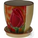 Pot ceramic for flowers 900ml