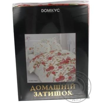 Комплект двухспальне сатин Домікус підковдра 210*175, простирадло 200*210, 2 наволочки 70*70 або 50*70