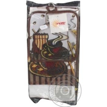Набір кухонний Coffee фартук, прихватка, рушник арт.71-72-039 - купити, ціни на МегаМаркет - фото 1