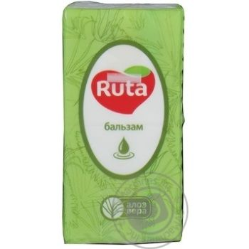Paper handkerchiefs Ruta white with aloe aroma 3-ply 10pcs - buy, prices for Novus - image 5