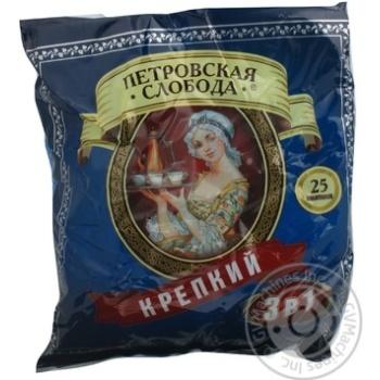 Напиток кофейный Петровская Слобода Крепкий растворимый 3в1 в стиках 20г Россия