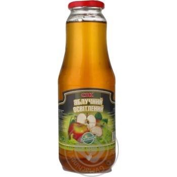 Сок Эко-фуд яблоко осветленный 1000мл стеклянная бутылка Украина