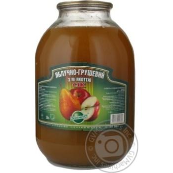 Сок Эко-фуд яблоко-груша 3000мл стеклянная банка Украина