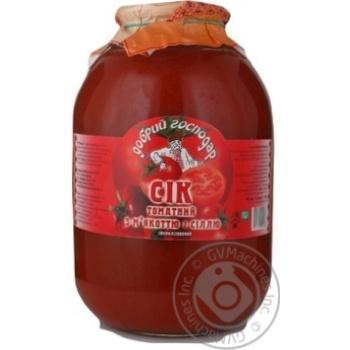 Сок Добрый господар томат 3000мл стеклянная банка Украина