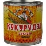 Vegetables corn Dobriy hospodar sugar canned 410g can Ukraine